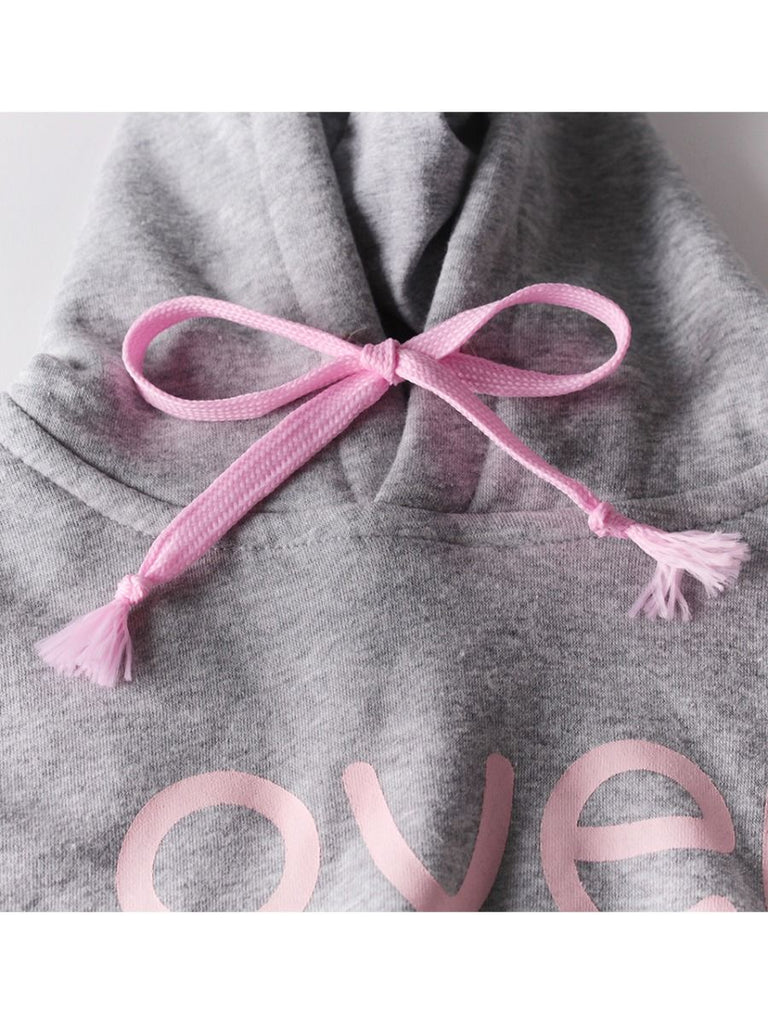 Lovely Baby Adorable Bow Hoodie Playsuit Onesie