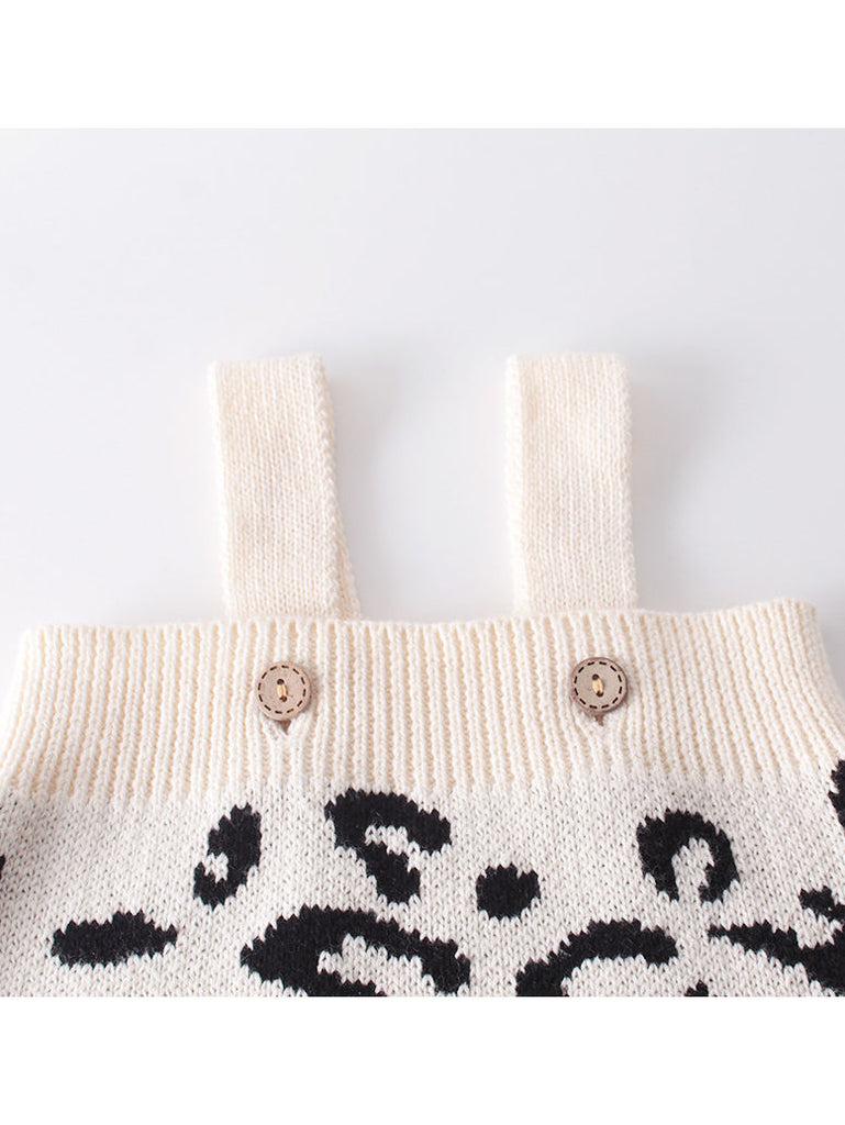 Baby Leopard Crochet Knitted Jumpsuit