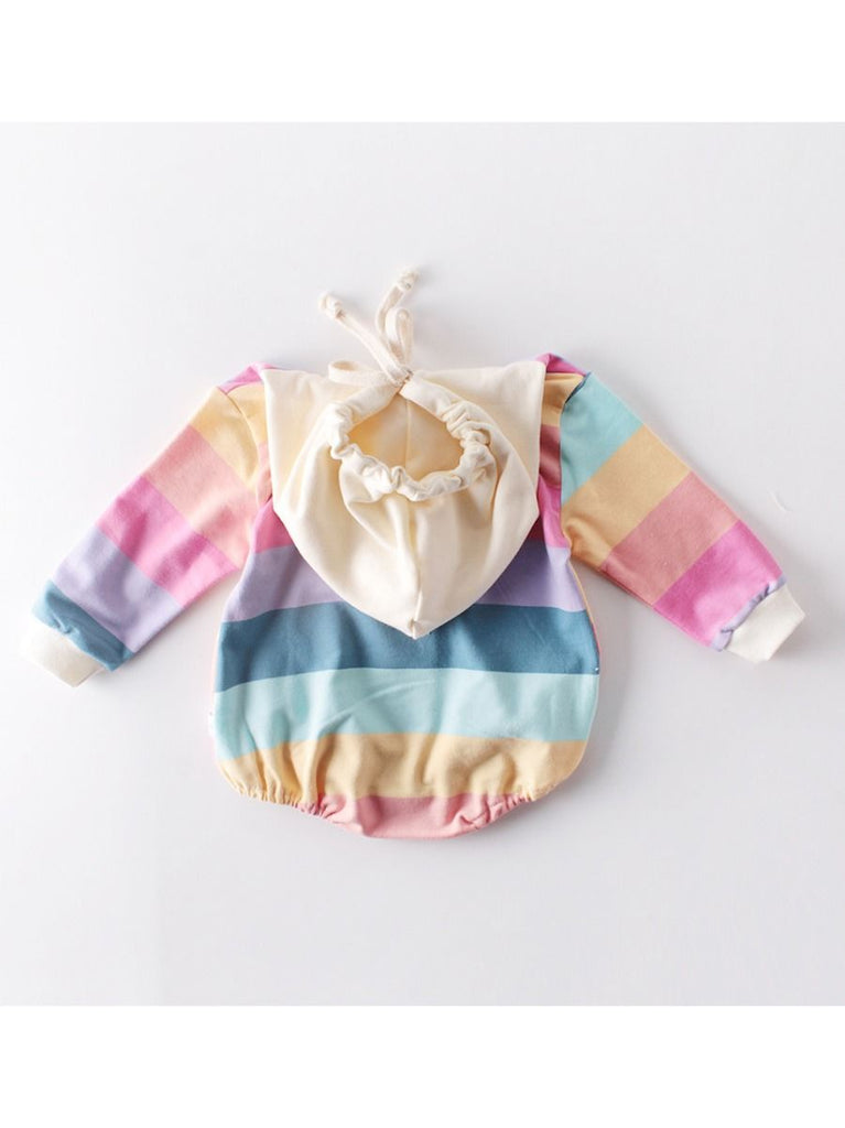 Fun Rainbow Playsuit Hooded Onesie