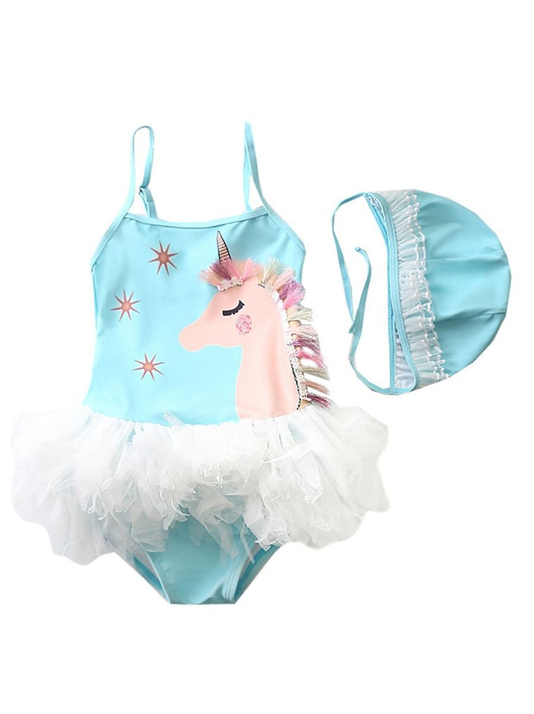 Unicorn Mesh One Piece Swimwear