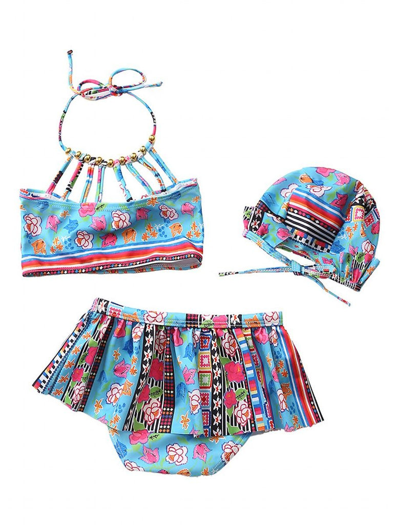 Boho Tribal Print 3-Piece Bikini