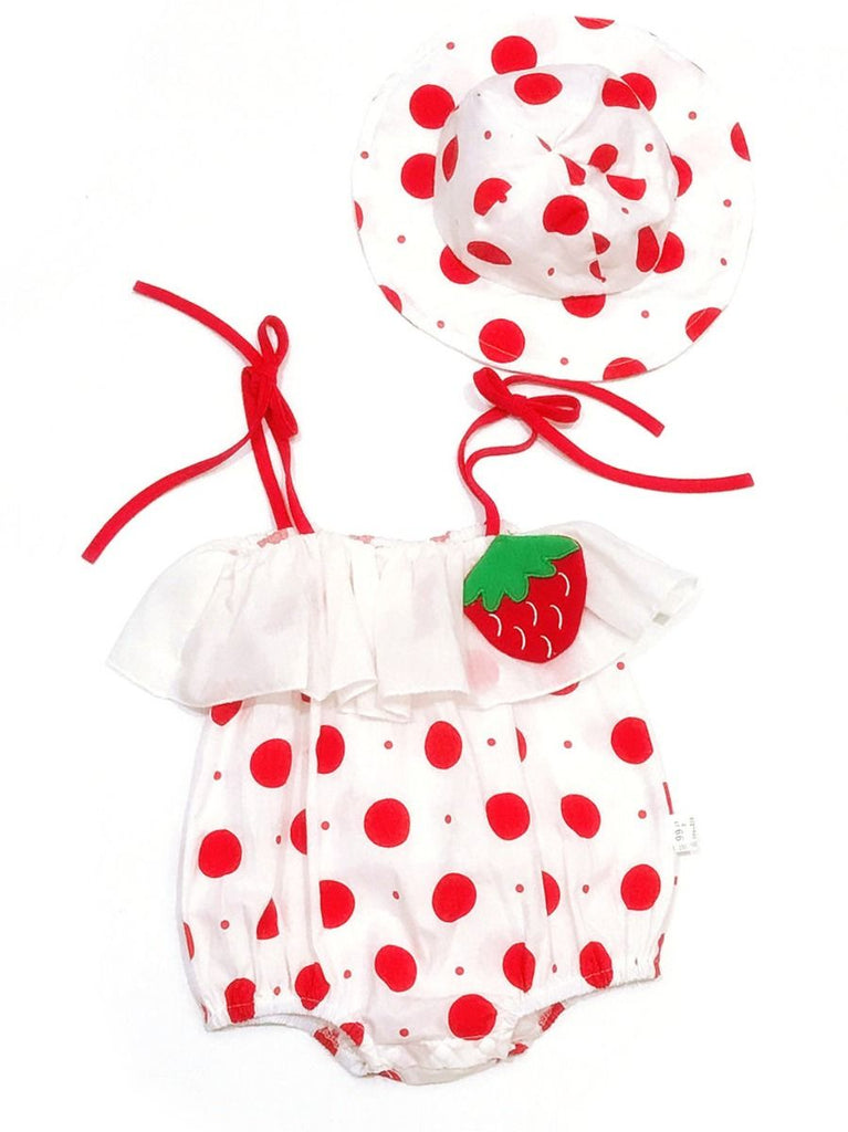 Strawberry Shortcake Baby Romper & Hat
