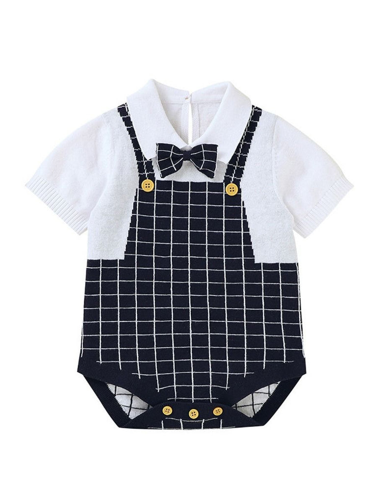 Gentlemen Bow Tie Baby Boy Knit Onesie
