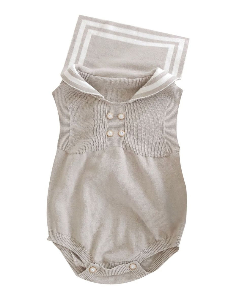 Sailor Baby Knit Sleeveless Bodysuit
