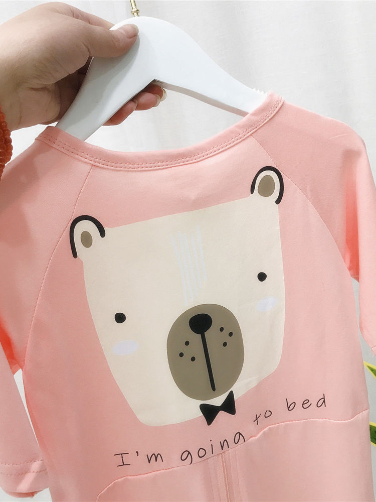 Adorable Going To Bed Teddy Bear Sleepsuit