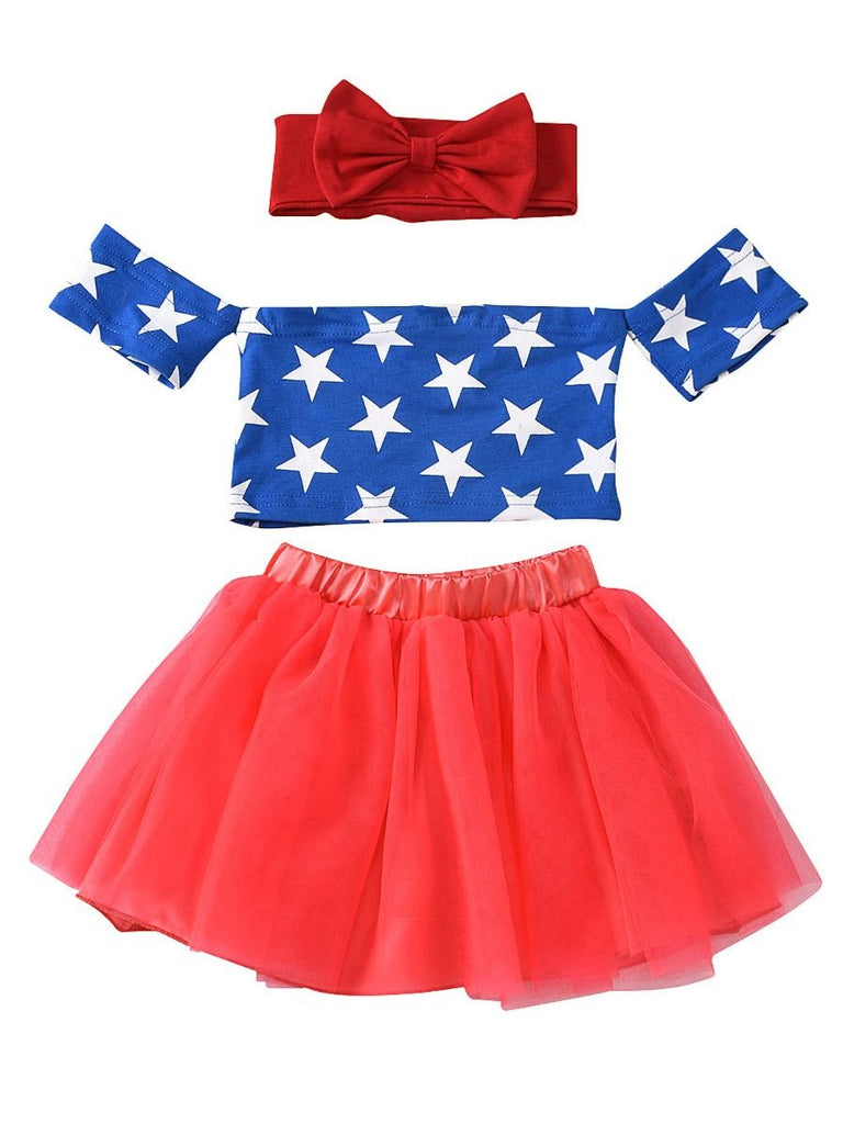 Adorable 3-Piece 4th of July Baby Girl Set