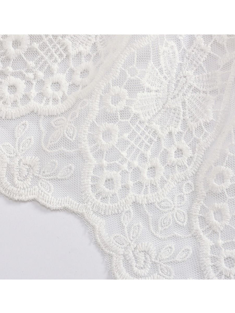Delicate Lace Baby Romper Train