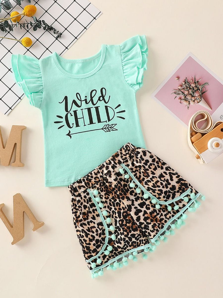 Wild Child Toddler Girl Leopard 2-Piece Outfit