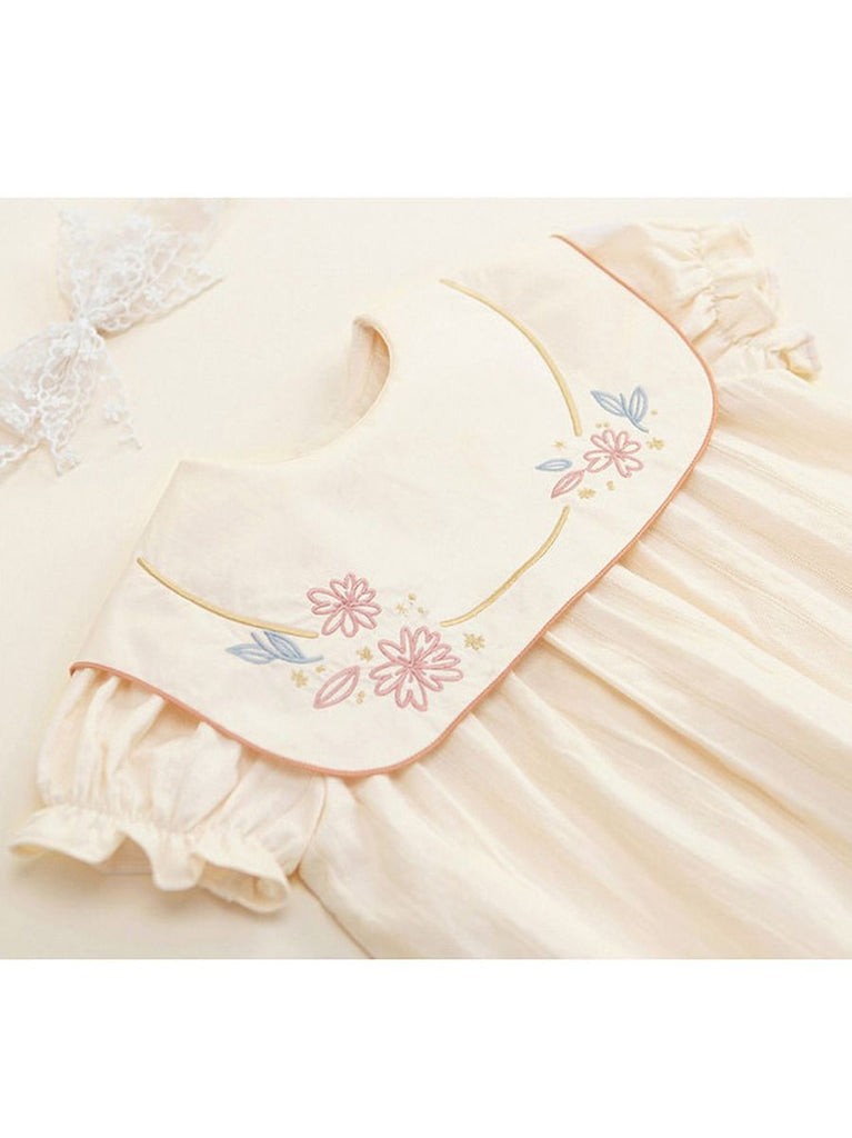 Adorable Spanish Embroidered Baby Onesie
