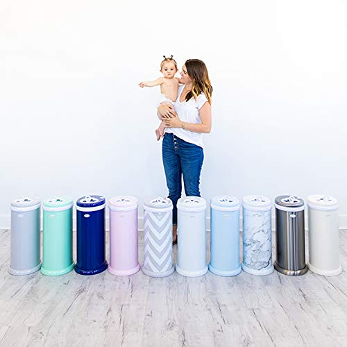 Ubbi Steel Odor Locking, No Special Bag Required Money Saving, Awards-Winning, Modern Design, Registry Must-Have Diaper Pail, White