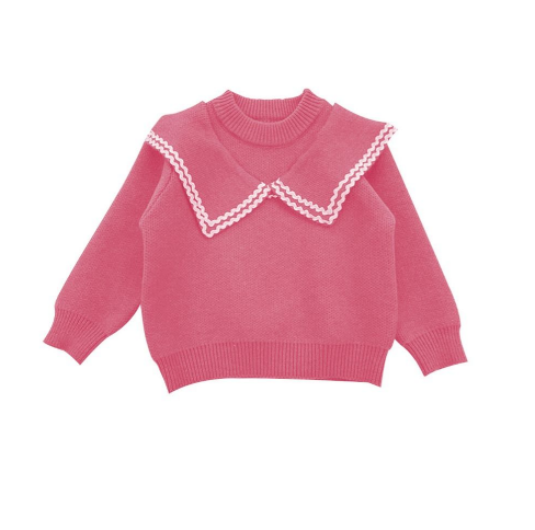 Girls Collared Knit Sweater