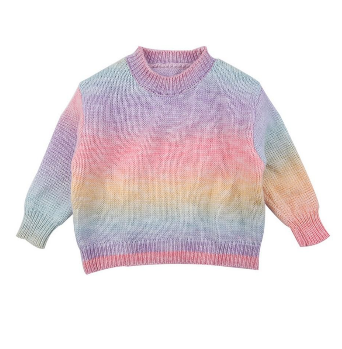 Adorable Knit Rainbow Sweater