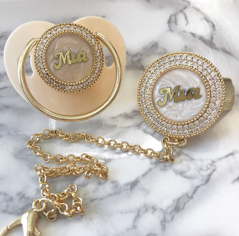 ★NEW★ Personalized Baby Name Glam Pacifier