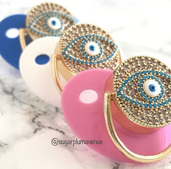 Evil Eye 'Nazar' Protection Swarovski Crystal Bling Pacifier