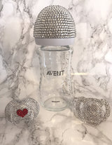 Love Heart Avent Swarovski Crystal Pacifier
