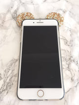 Glam Rhinestone Mouse Ears iPhone 6 Plus Case
