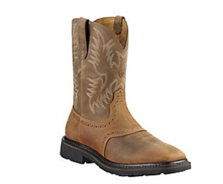 Ariat Sierra Wide Square Toe - Aged Bark #10010134