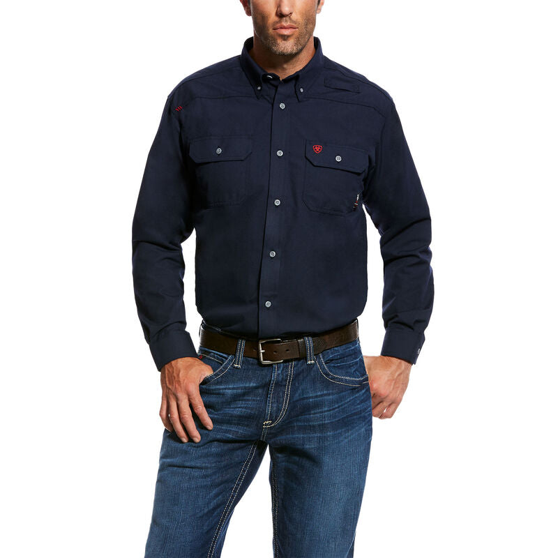 Shirt, Ariat FR Feather-light Work Shirt, NAVY # 10022899