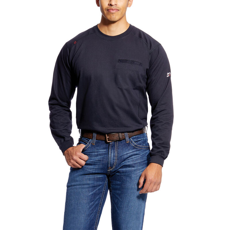 Ariat, Knit-Shirt, FR Air Crew T-Shirt, Black
