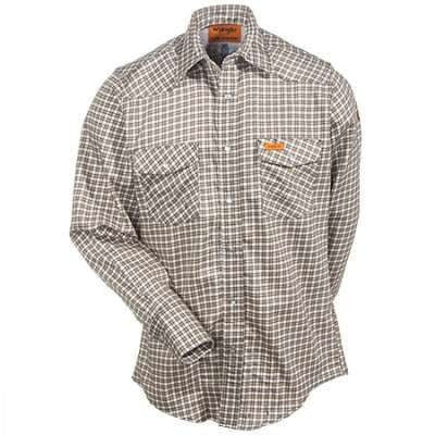 6.5oz FR Cot.  Snap Plaid Shirt