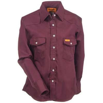 Shirt, Women's FR Cot.  Snap  6.5oz