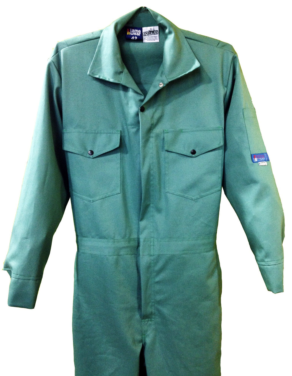 Coverall, FR Indura 9oz Visual Green