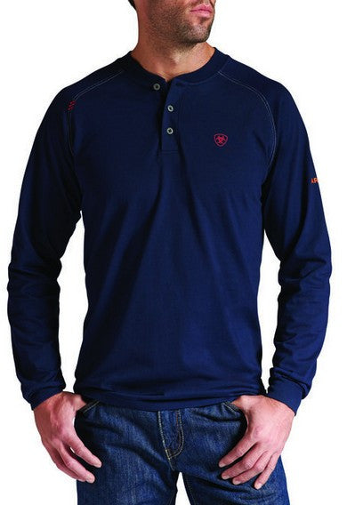 Knit Shirt, Ariat Henley Navy
