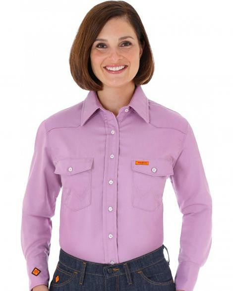 6.5oz Women's FR Cot. Button Shirt