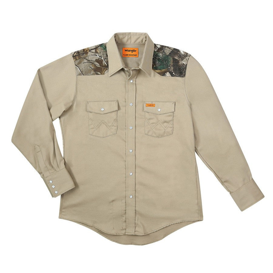 Shirt, FR Cot. Snap Camo, 6.5oz