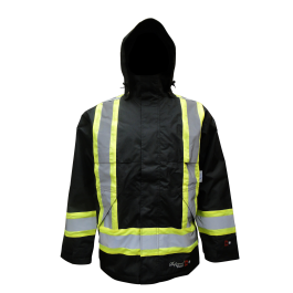 Jacket Rain, Insulated, Rip-Stop FR, Viking Outerwear, Hi Vis Journeyman