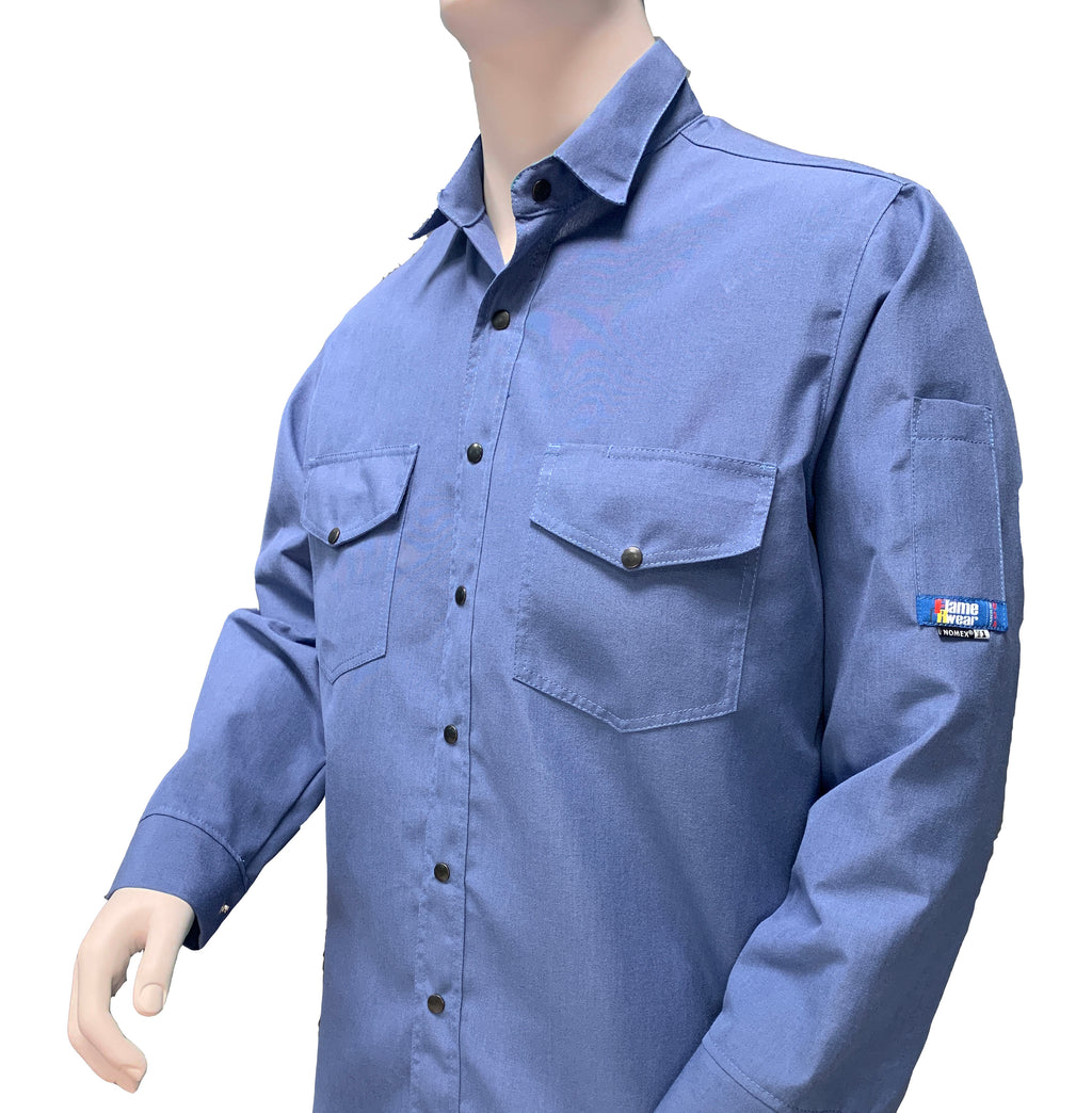 Shirt, Deluxe, FR Nomex 4.5 oz Snap Front, Special colors