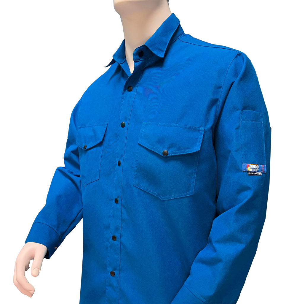 Shirt, Nomex 4.5 oz, FlameRwear, Deluxe, Snap Front, NS4