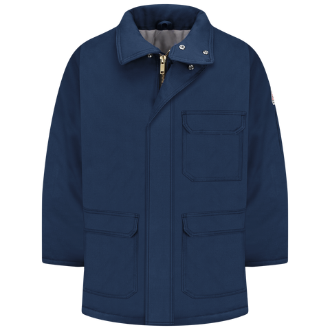 Jacket, FR Insulated Deluxe Parka, Knit Nomex, Bulwark, Navy, #JLP8