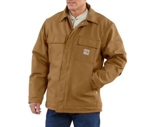 Jacket, FR duck 13oz, Carhartt, Navy, Black, Brown, 101618