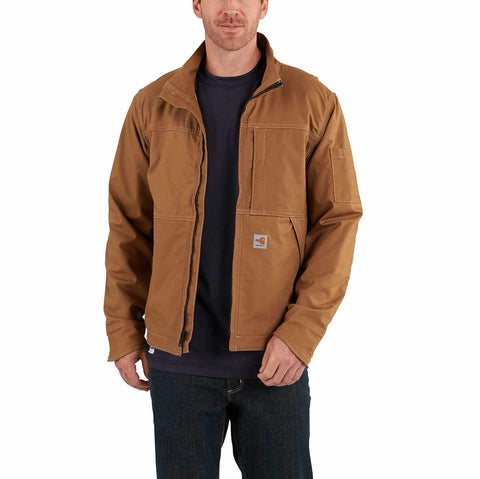 Jacket, FR Full Swing, Quick Duck 8.8oz, Carhartt, Brown, Navy, 102179