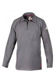 Shirt Knit IQ SERIES Bulwark COLLARD LONG SLEEVE, #QT12