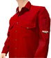Shirt, Deluxe, FR Nomex 6oz -Red/ Grey