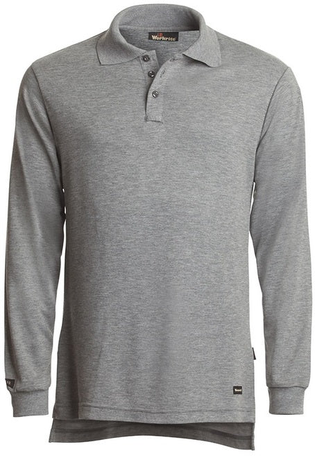 KNIT SHIRT LONG-SLEEVE POLO, 6.7 OZ. TECASAFE PLUS