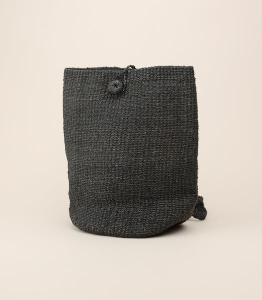 ABACA MALINAO BACKPACK / BLACK - MAAARI