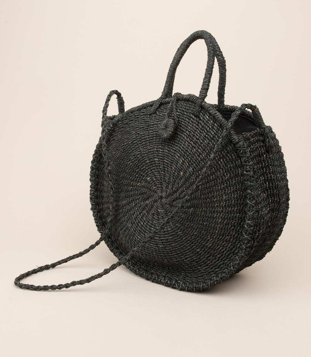 ABACA TICAO BAG / BLACK - MAAARI