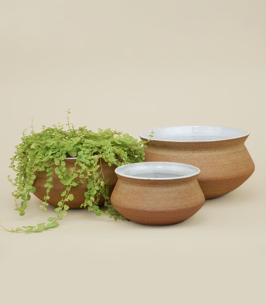BANGA STACKING PLANTER SET / ADOBE - MAAARI