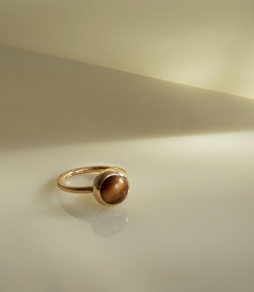 TIGER EYE LUNAR RING - MAAARI