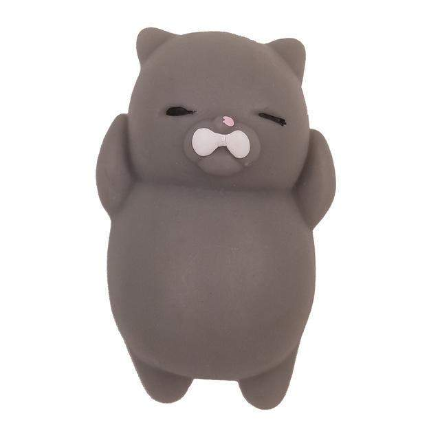 Grey Squishy Cat : Mochi    Squishy Cat Squeeze Toy Stress Reliever Ace Deal Store