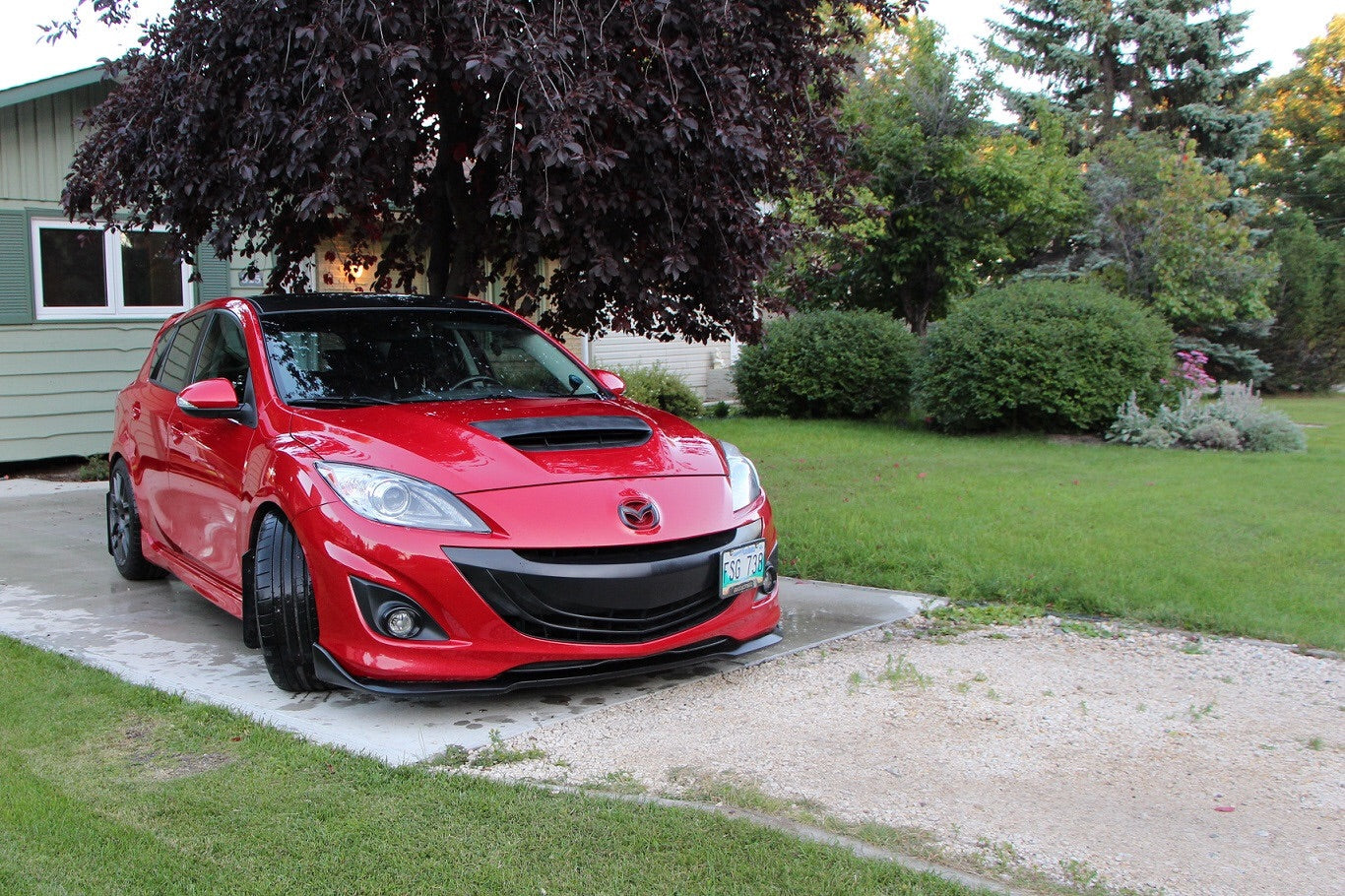 buy mazda 3 bodykits mazda 3 mps bk sti front lip. Black Bedroom Furniture Sets. Home Design Ideas