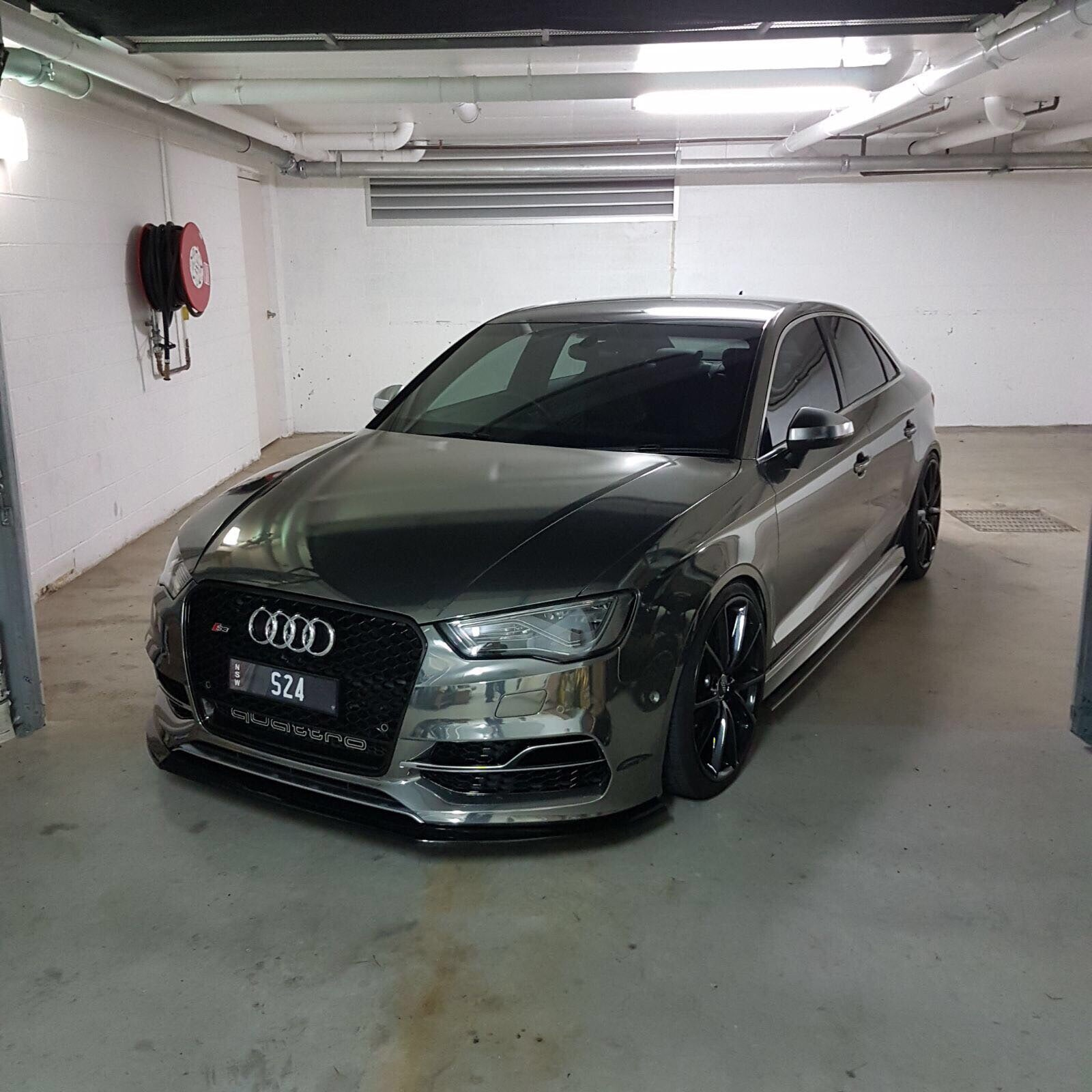 buy audi s3 a3 front splitter maxton style 2013 2016 ausbody works. Black Bedroom Furniture Sets. Home Design Ideas