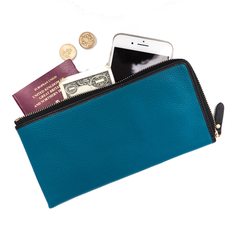 Leather travel wallet,