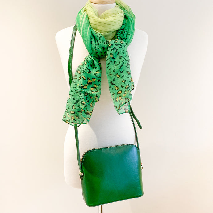 Manarola Bag and Green Animal Scarf