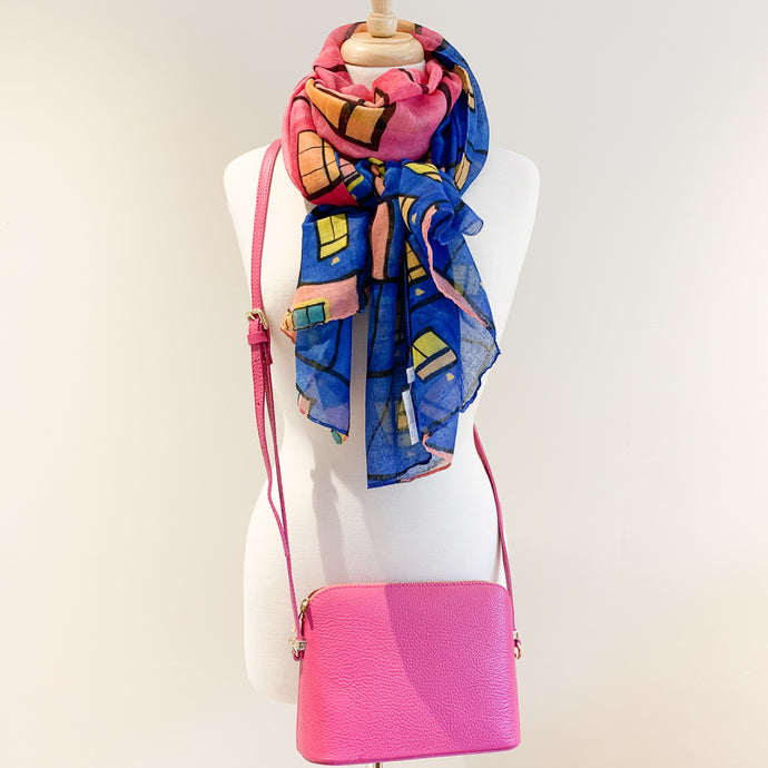 Salerno Handbag and Blue Window Scarf