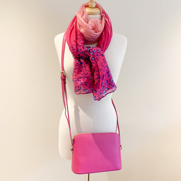 Salerno Handbag and Pink Animal Scarf