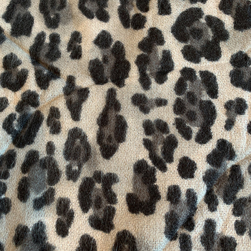 Animal Print Scarf - Black and Grey